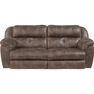 Power Headrest Lay Flat Reclining Sofa with Lumbar
