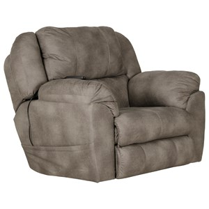 Casual Lay Flat Power Recliner with Power Headrest and Dual Heat & Massage