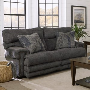 Power Headrest with Power Lumbar Lay Flat Reclining Loveseat with Extended Legrest and USB Ports