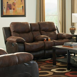 Power Reclining Console Loveseat with Cup-Holders
