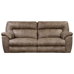 Casual Contemporary Power Reclining Sofa with USB Ports