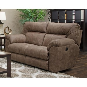 Casual Contemporary Power Reclining Loveseat with USB Ports