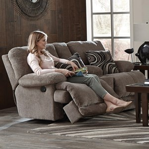 Reclining Console Loveseat with Storage and Cup Holders