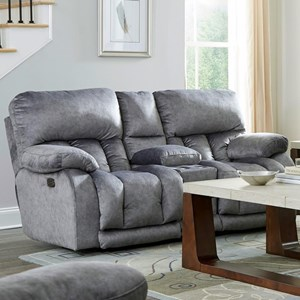 Power Lay Flat Reclining Loveseat with Power Headrests
