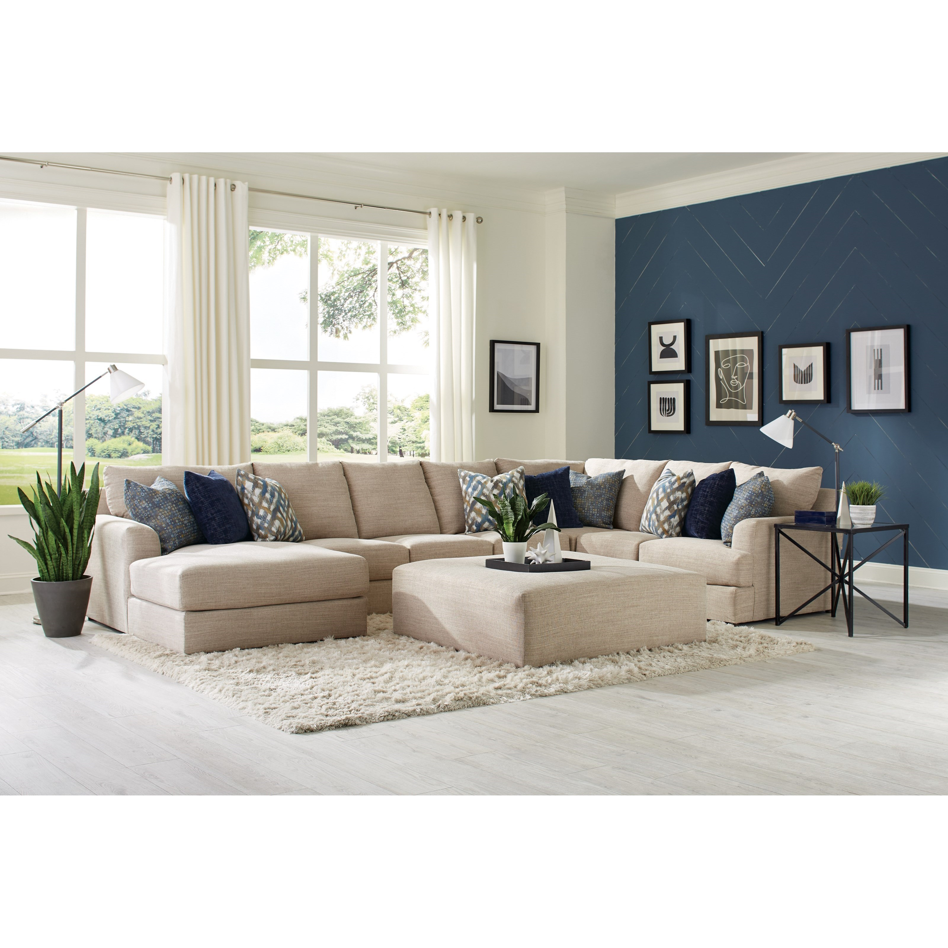 Laguna 3-Piece Sectional with LAF Chaise by Jackson Furniture at Z & R Furniture