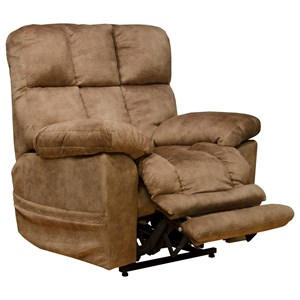 Power Lift Recliner with Dual Motor and Extended Ottoman