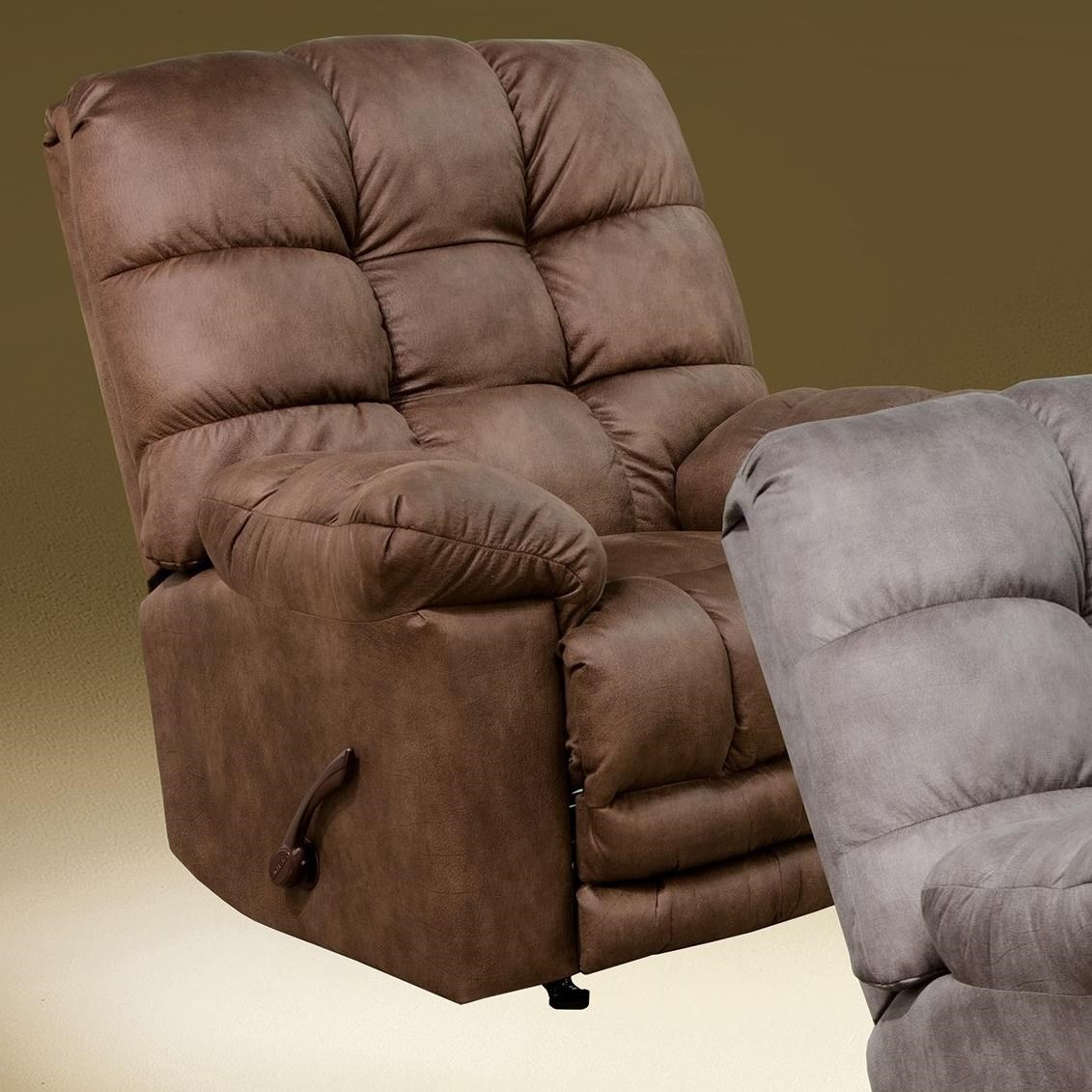 Machado Chaise Rocker Recliner w/ Oversized Footrest by Catnapper at Lapeer Furniture & Mattress Center