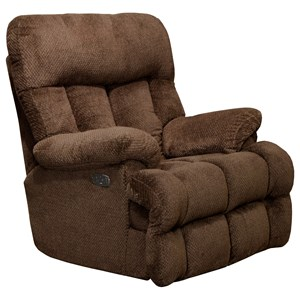 Power Headrest Lay Flat Recliner with Power Lumbar & Extended Ottoman