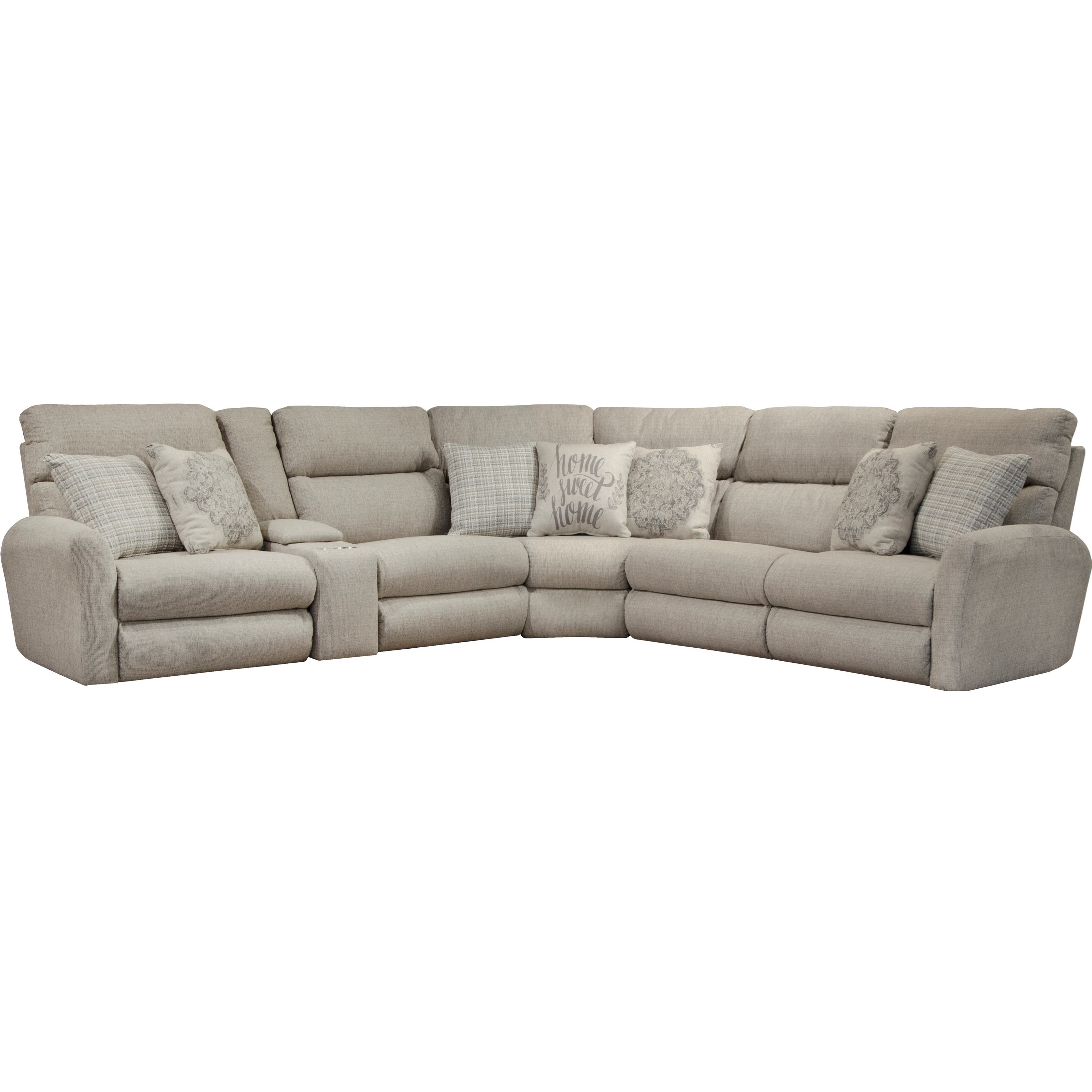 McPherson Power Reclining Sectional by Catnapper at Northeast Factory Direct