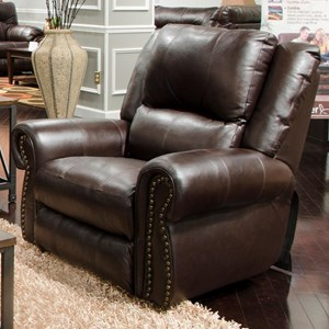 Traditional Power Lay Flat Recliner with Power Headrest and Lumbar