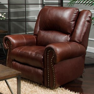 Traditional Power Lay Flat Recliner with Power Headrest