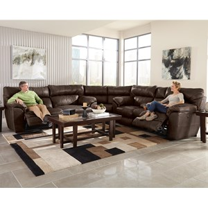 Three Piece Lay Flat Reclining Sectional Sofa with Cupholder Storage Console