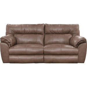 Casual Leather Lay Flat Reclining Sofa