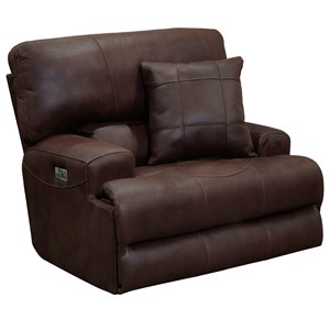 Power Headrest Lay-Flat Recliner with Lumbar Support