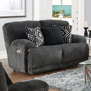 Power Lay Flat Reclining Loveseat with USB Port