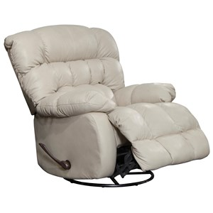 Pendleton Chaise Swivel Glider Recliner with Biscuit Back