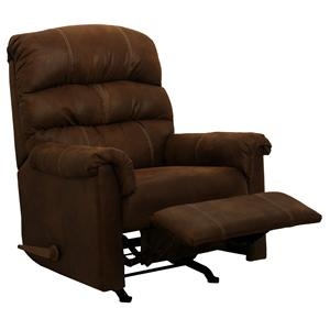 Catnapper Motion Chairs and Recliners Capri Rocker Recliner in Chocolate