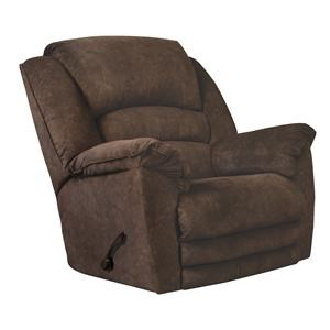Rialto Chocolate Rocker Recliner with Extra Comfort Footrest