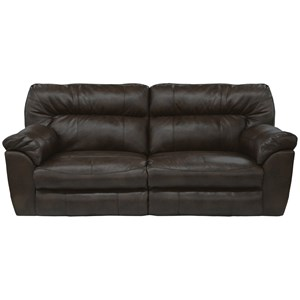Casual Extra Power Wide Reclining Sofa with Tall Back