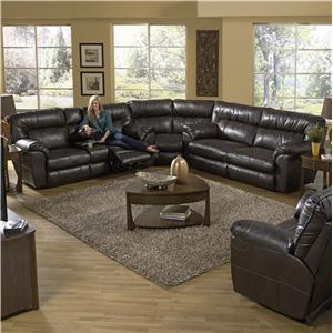 Catnapper Nolan  Reclining Sectional Sofa with Left Console