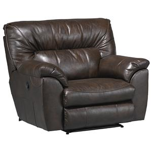 Extra Wide Cuddler Recliner with Casual Contemporary Style