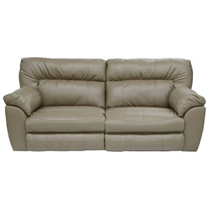 Power Extra Wide Reclining Sofa with Casual Contemporary Style