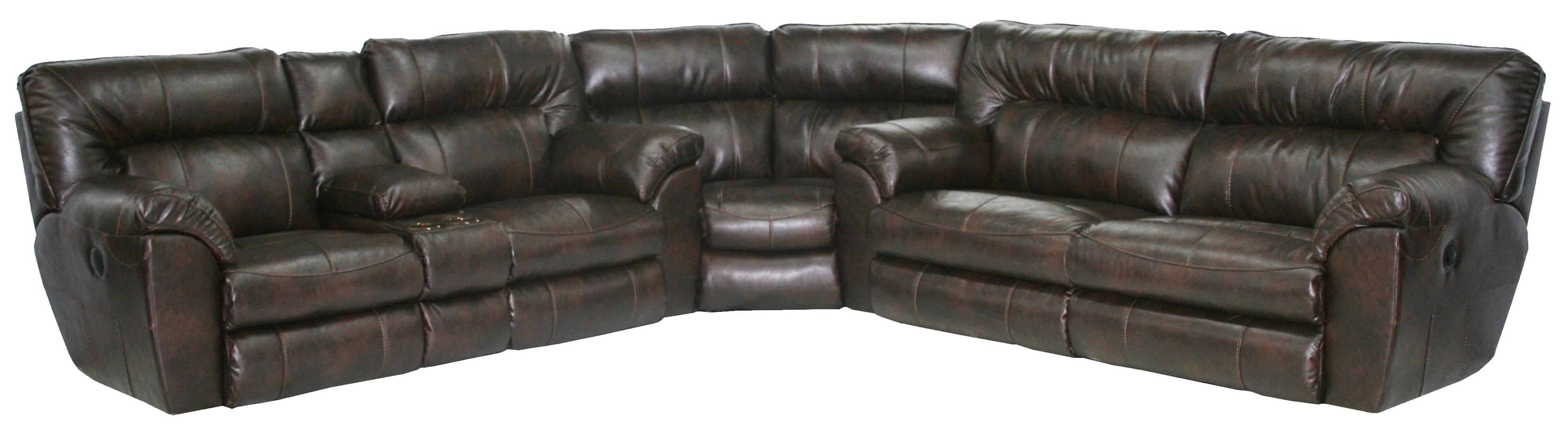 MAVERICK Power Reclining Sectional with Left Console by Catnapper at EFO Furniture Outlet