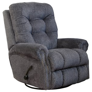 Swivel Glider Recliner with Tufted Back