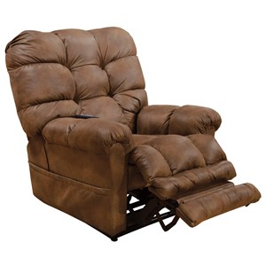 Casual Power Lift Recliner with Extended Ottoman