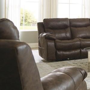 Power Headrest w/Lumbar Power Lay Flat Recliner w/Dual Heat & Massage