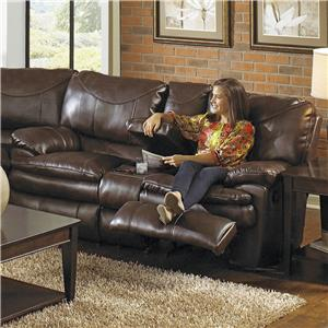 Catnapper Perez Reclining Console Loveseat