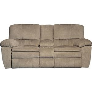 Power Lay Flat Reclining Loveseat With Console And Cup Holders