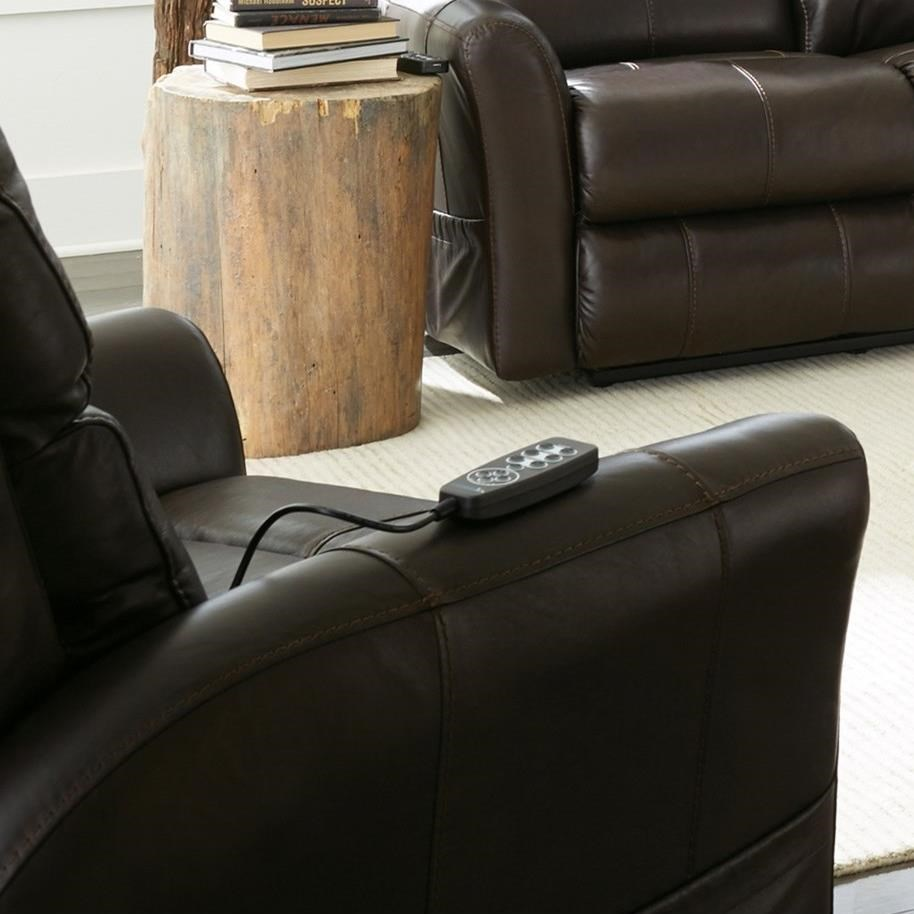 Riposo Power Headrest Power Lay Flat Recliner by Catnapper at Northeast Factory Direct