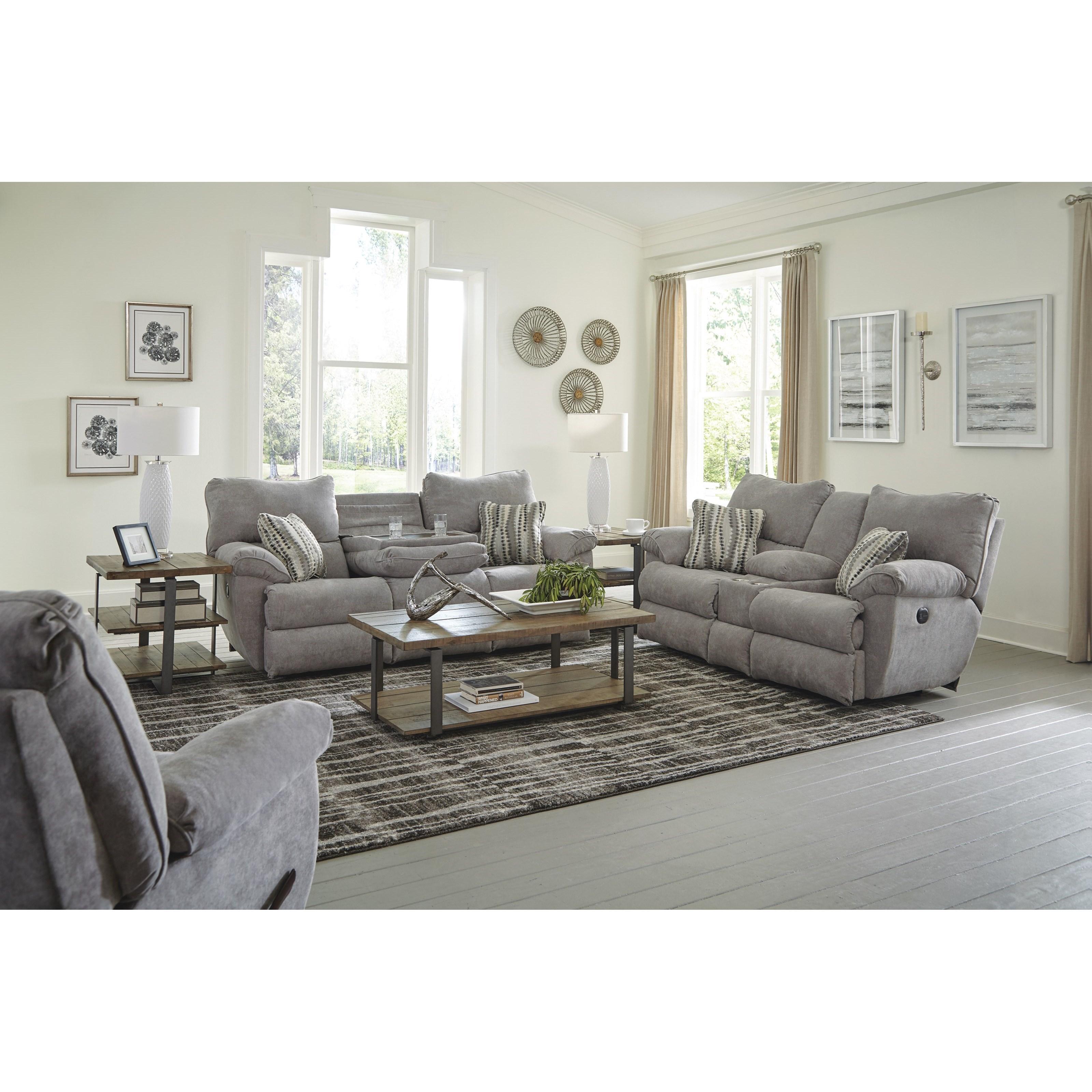 Sadler Reclining Living Room Group by Catnapper at Standard Furniture