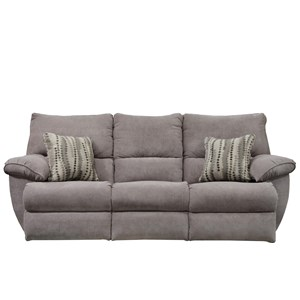 Power Lay Flat Reclining Sofa with Drop Down Table