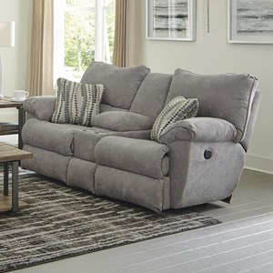 Power Lay Flat Reclining Console Loveseat with Cup Holders