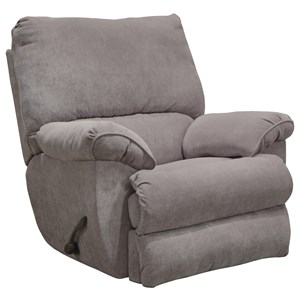 Power Lay Flat Recliner with Pillow Arms