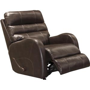 Casual Rocker Recliner in Faux Leather