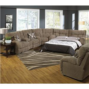 Catnapper Siesta  Reclining Sectional Sofa with Sleeper