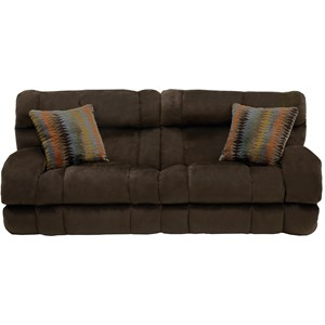 Power Lay Flat Reclining Sofa with Wide Seats