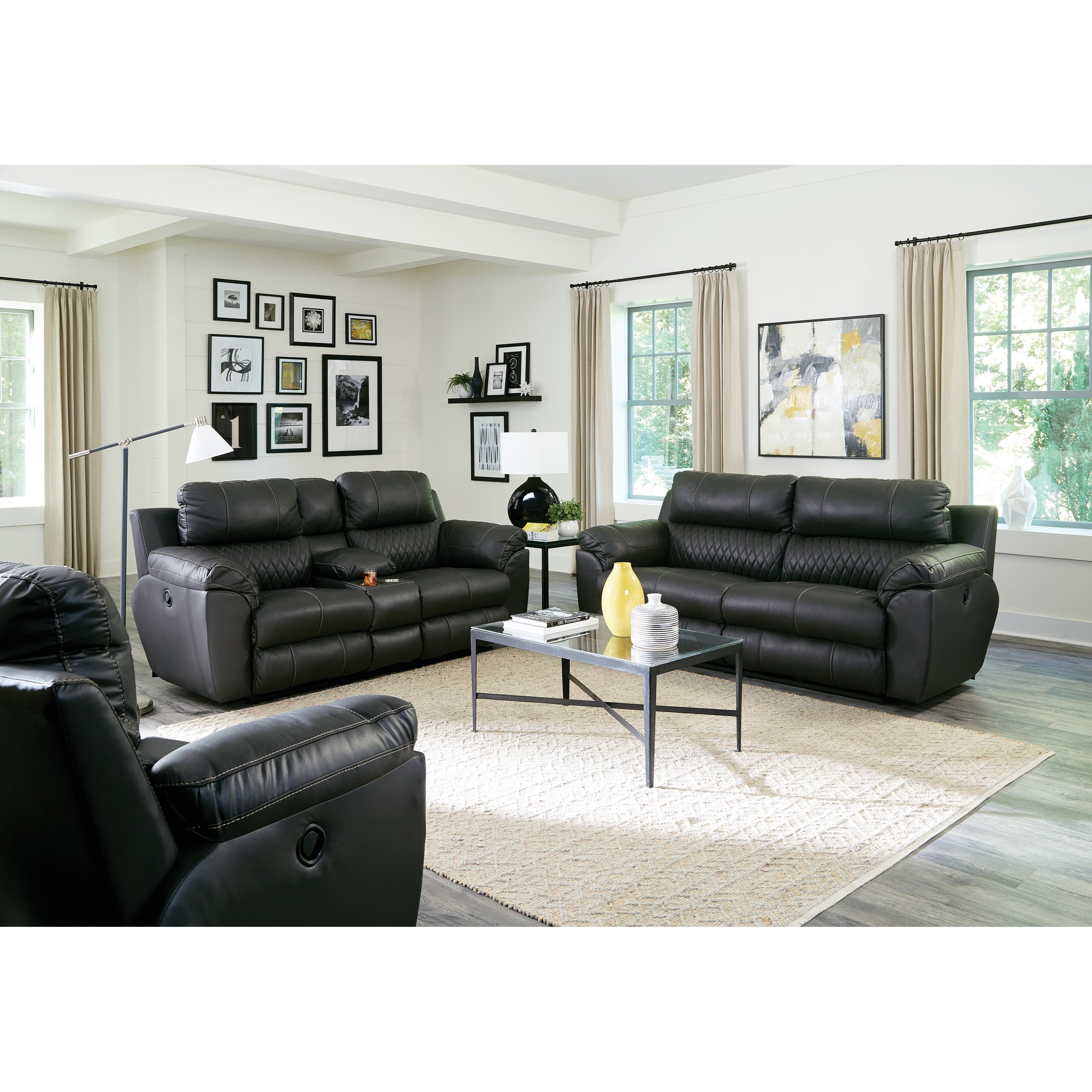 Sorrento Power Reclining Living Room Group by Catnapper at Standard Furniture