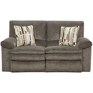 Causal Reclining Loveseat with Pillow Arms