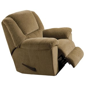 Chaise Swivel Glider Recliner with Pillow Arms