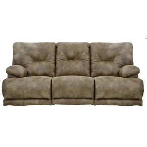 "3 Seat ""Lay Flat"" Reclining Sofa with Fold Down MiddleTable"