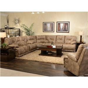 "POWER 6 Seat ""Lay Flat"" Reclining Sectional Seating"