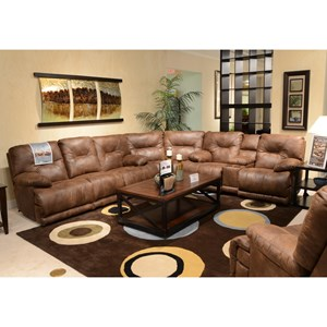 Power 6 Seat Lay Flat Reclining Sectional Seating