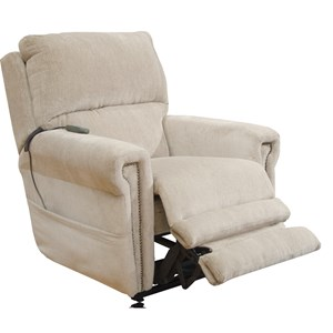 Lay Flat Power Recliner with Power Headrest and Lumbar Power