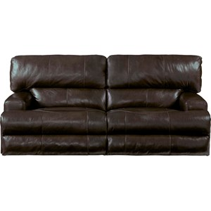 Power Lay Flat Reclining Sofa with Power Headrests and Lumbar