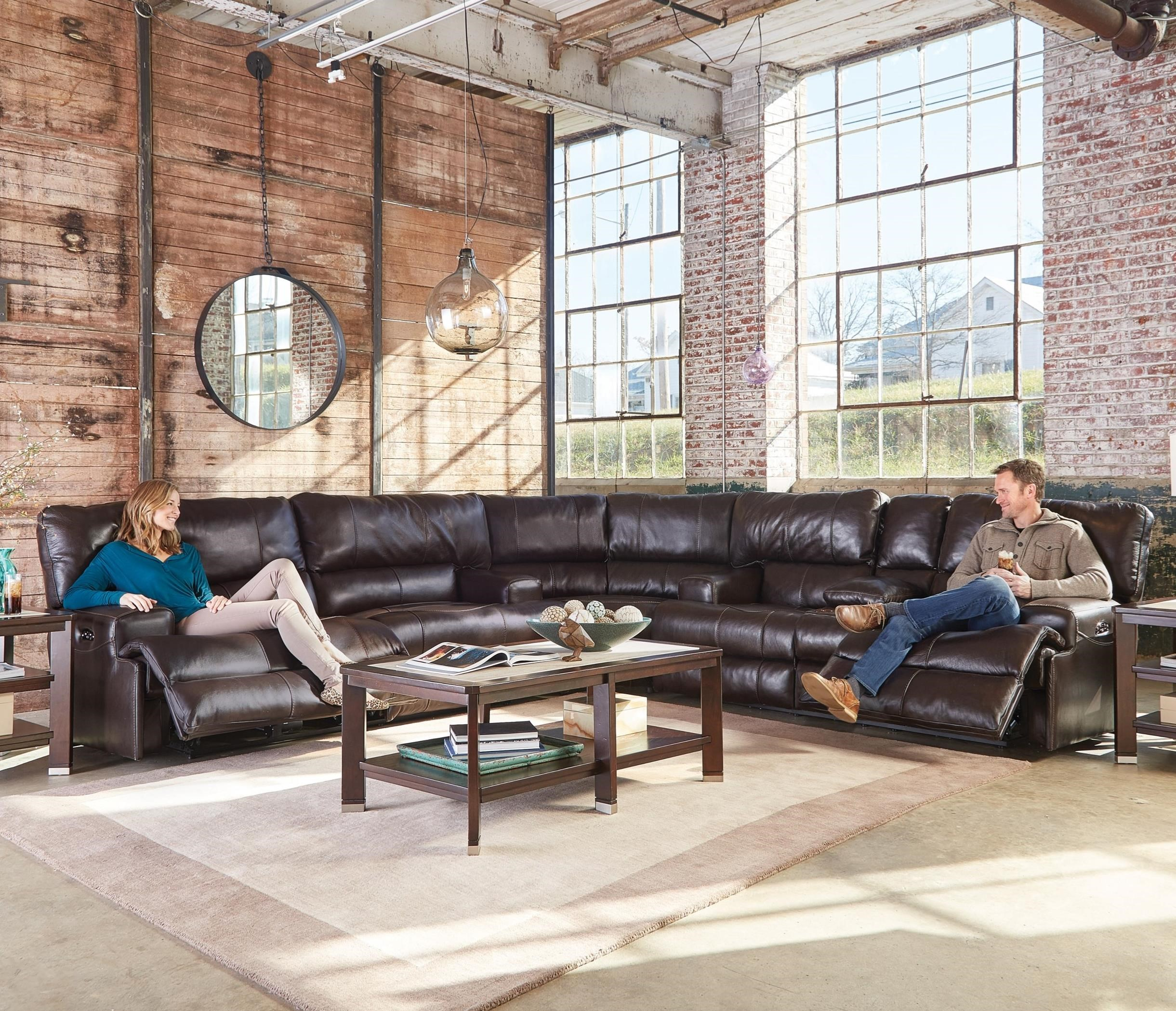 Wembley Power Reclining Sectional by Catnapper at Northeast Factory Direct