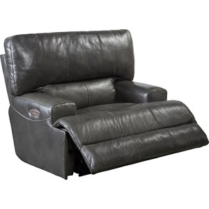 Power Lay Flat Recliner with Power Headrest and Lumbar